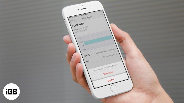 Как удалить события календаря на iPhone или iPad в iOS 14/13