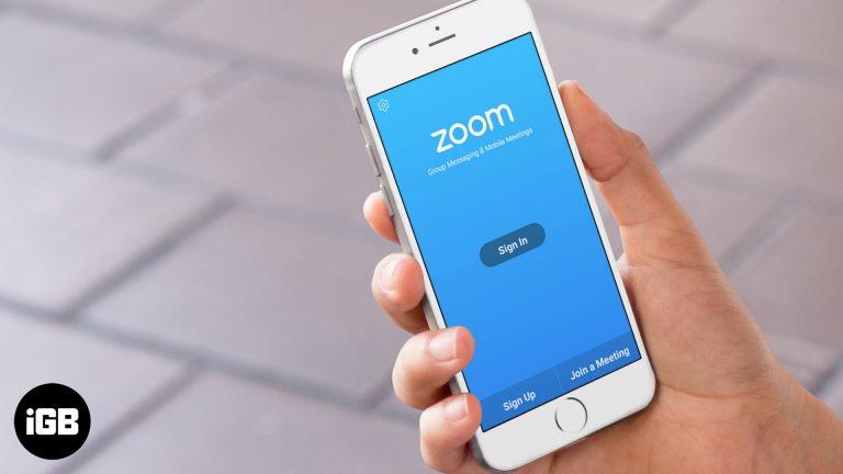 Как исправить приложение Zoom, не работающее на iPhone и iPad