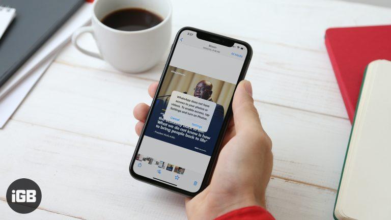 Не удается сохранить фотографии и видео WhatsApp на iPhone? Вот исправление