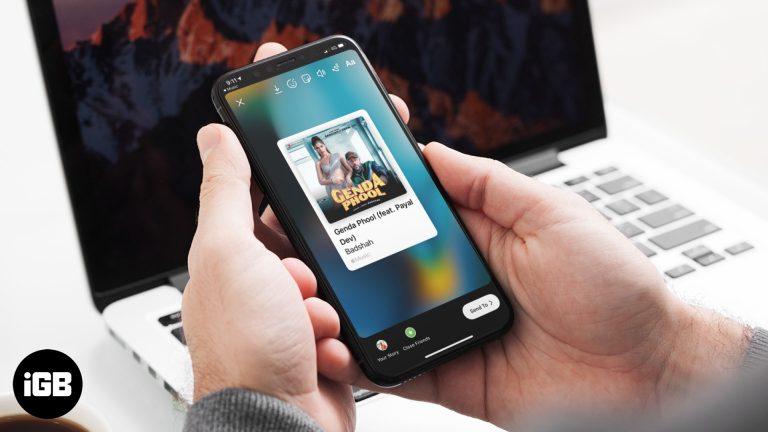 Как поделиться песнями Apple Music с историями Instagram на iPhone в iOS 13