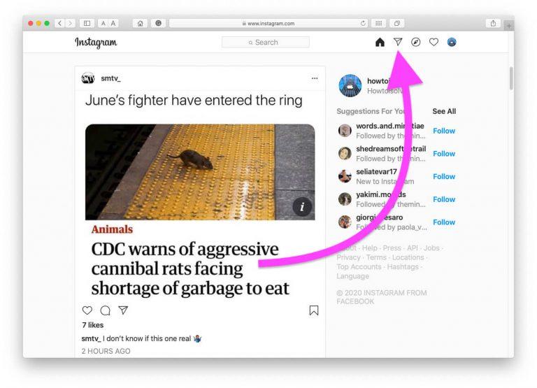 Как сделать DM в Instagram на Mac или ПК двумя способами в 2020 году – несколько или один профиль – HowToiSolve