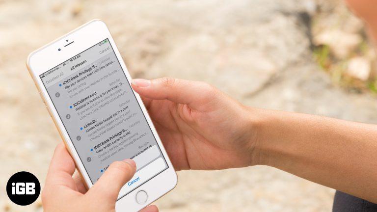 Как удалить все электронные письма за один раз в почтовом приложении iOS 13 на iPhone и iPad