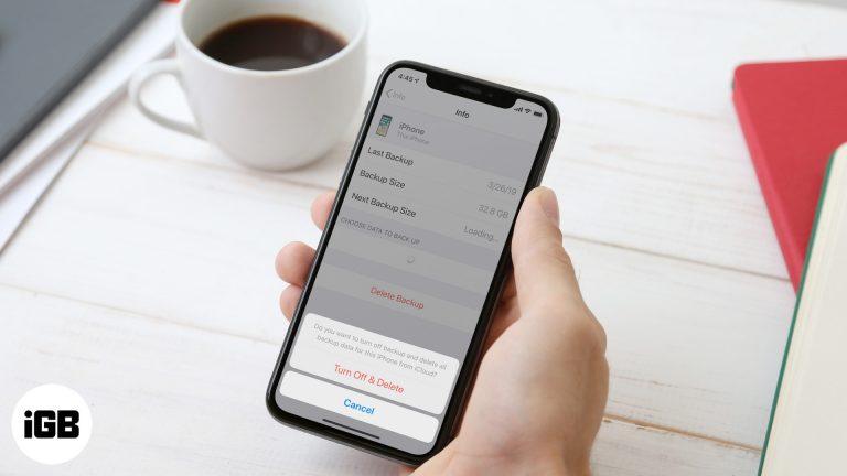 Как удалить резервную копию iCloud для освобождения хранилища