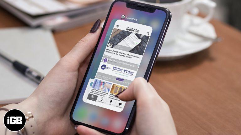 Как заставить приложения выйти на iPhone и iPad
