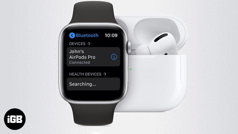 Как связать наушники Bluetooth с Apple Watch