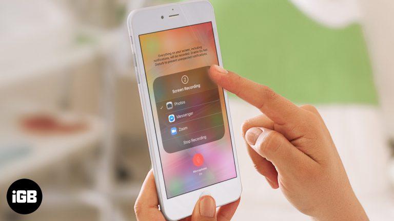 Как записать экран на iPhone и iPad
