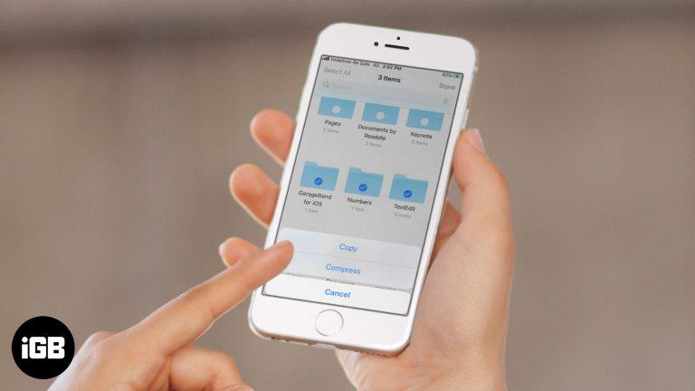 Как архивировать и распаковывать файлы на iPhone и iPad