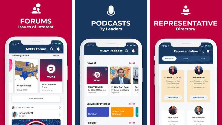 Приложение MOXY для iPhone позволяет взаимодействовать с политиками