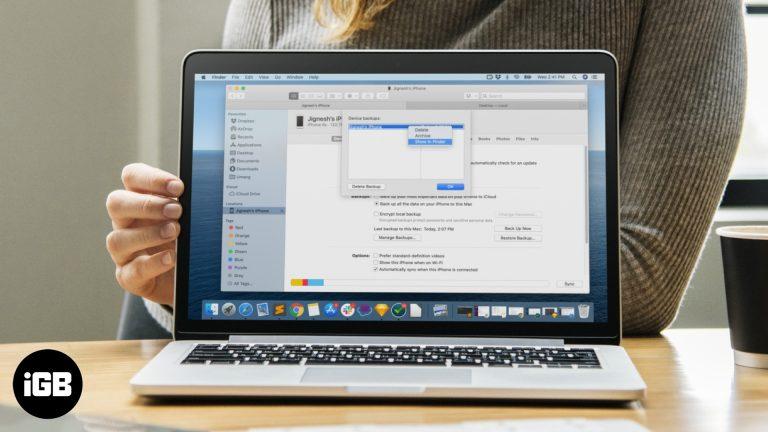 Как найти резервную копию iPhone на Mac и ПК с Windows