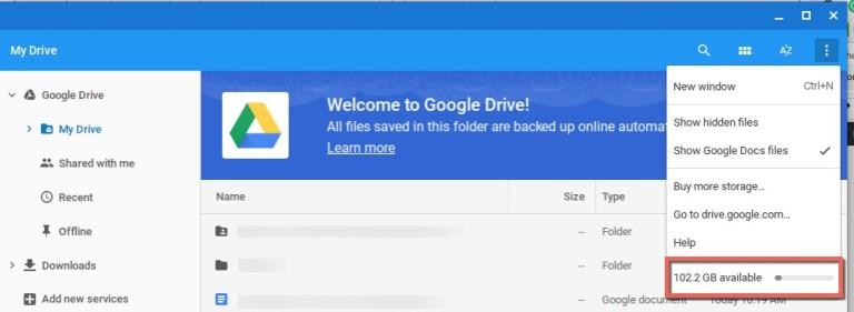 Как освободить место на Google Диске
