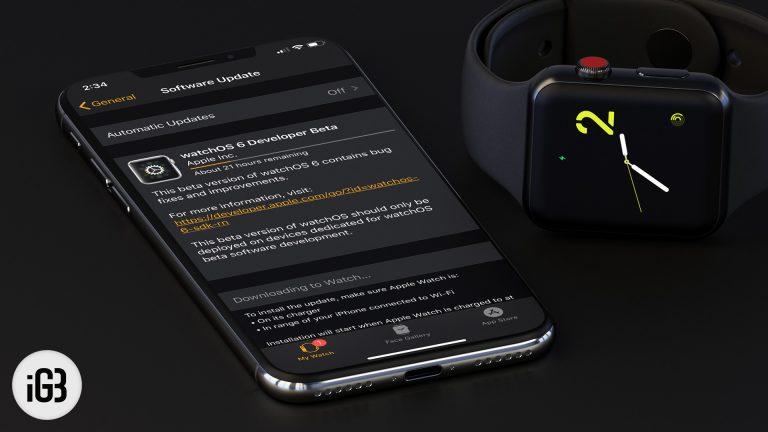 Как установить watchOS 6.2.8 Beta 1 на Apple Watch без учетной записи разработчика