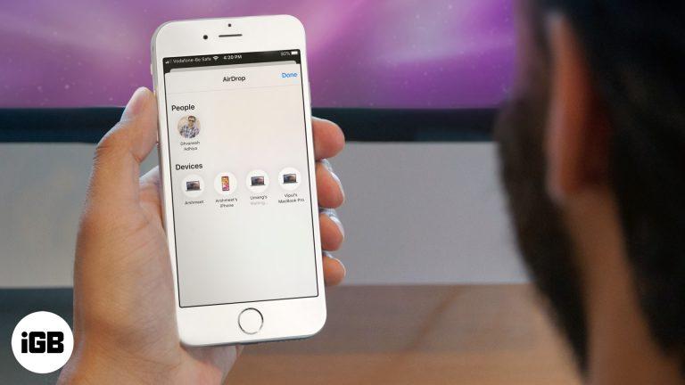Как использовать AirDrop на iPhone и iPad