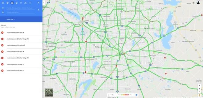 Как проверить трафик в Google Maps