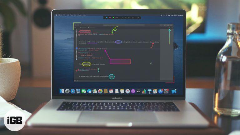Обзор экрана аннотации приложения Presentify Mac