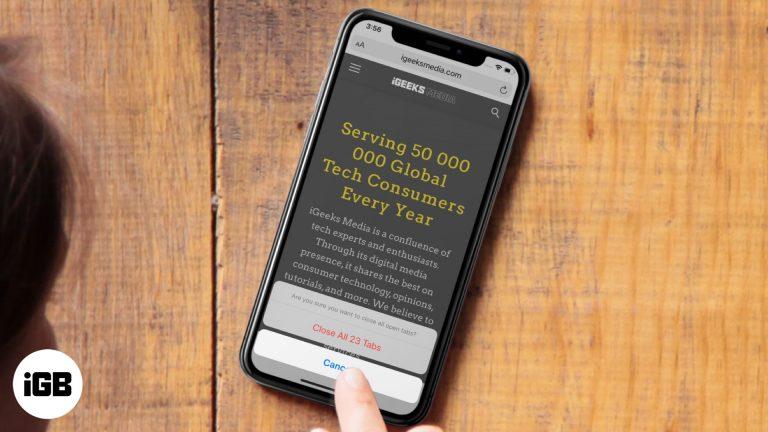 Как закрыть все вкладки Safari одновременно на iPhone и iPad