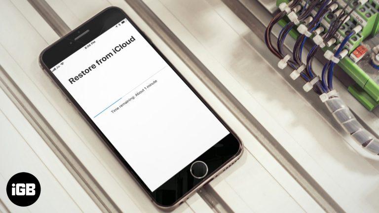 Как исправить застрявшую проблему восстановления iPhone iCloud