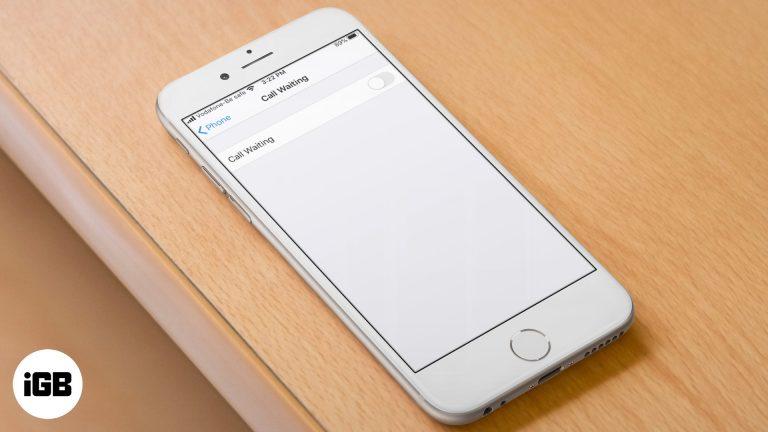 Как отключить «Ожидание вызова» на iPhone, чтобы остановить прерывание вызова