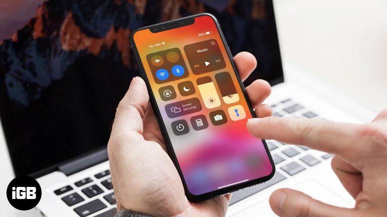Как включить фонарик на iPhone и iPad
