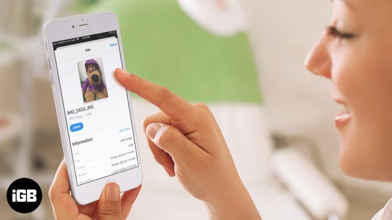 Как получить метаданные фотографий на iPhone или iPad