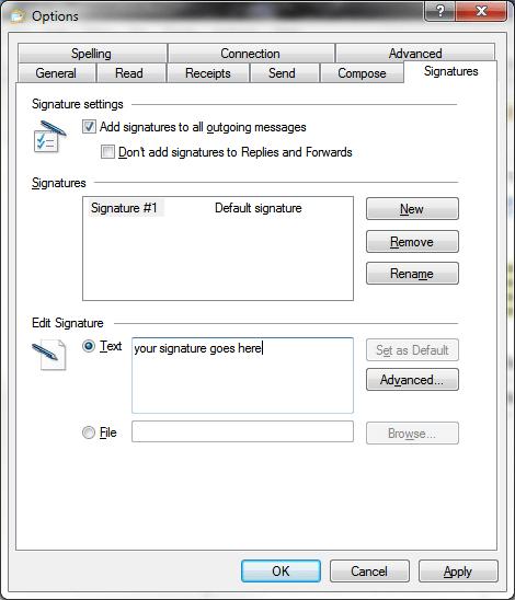 Как создавать расширенные подписи электронной почты с Windows Live Mail