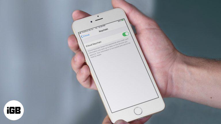 Как использовать iCloud Keychain на iPhone или iPad в iOS 13