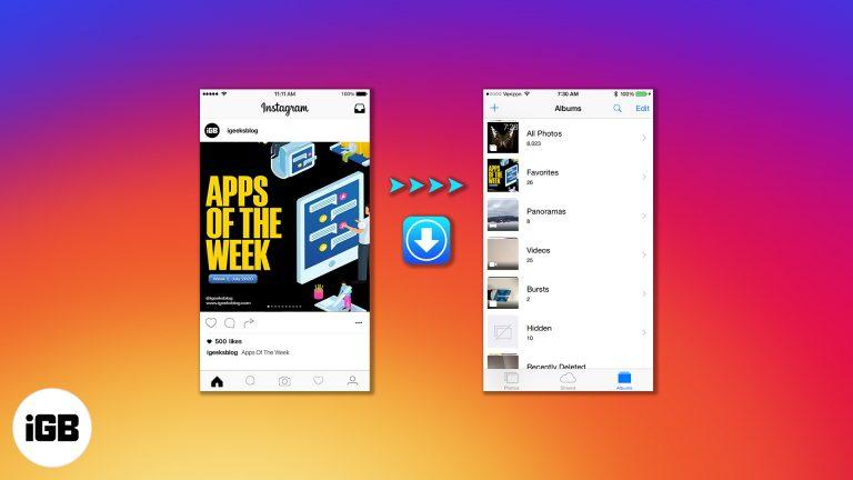 Как скачать Instagram видео и фото на iPhone Camera Roll