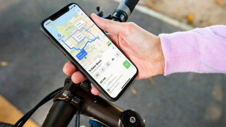 Как получить велосипедные маршруты в Apple Maps в iOS 14