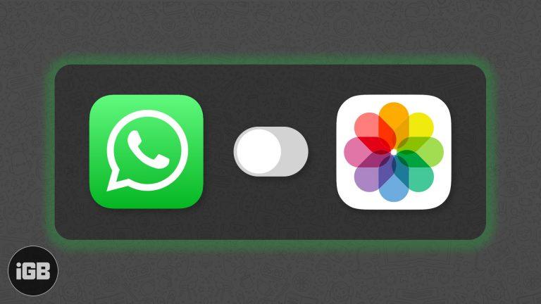 Как остановить WhatsApp от сохранения фотографий в iPhone Camera Roll