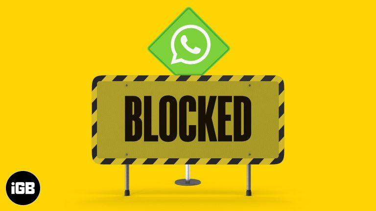Как заблокировать кого-то в WhatsApp для iPhone и Android