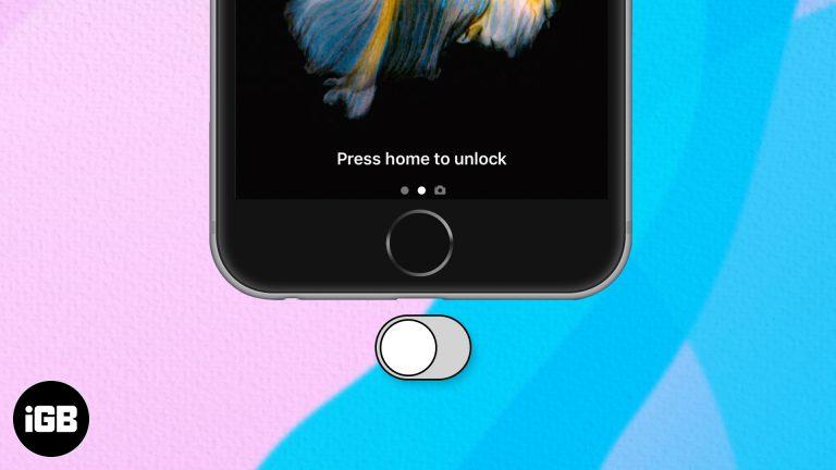 Как отключить «Нажмите домой, чтобы разблокировать» на iPhone и iPad