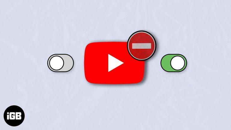 Как включить или выключить безопасный режим на YouTube