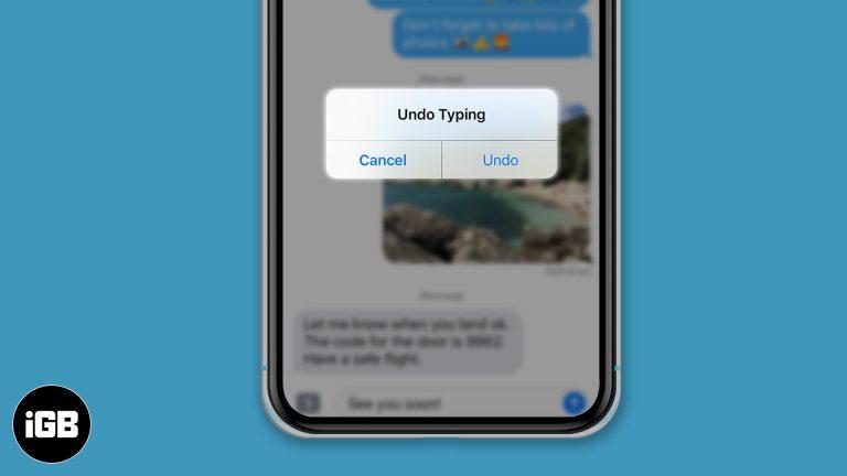 Как отменить и повторить ввод на iPhone и iPad