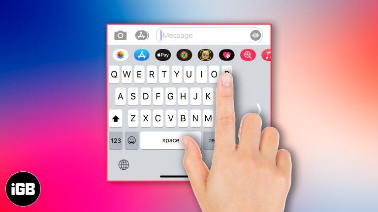 Как использовать клавиатуру одной рукой на iPhone
