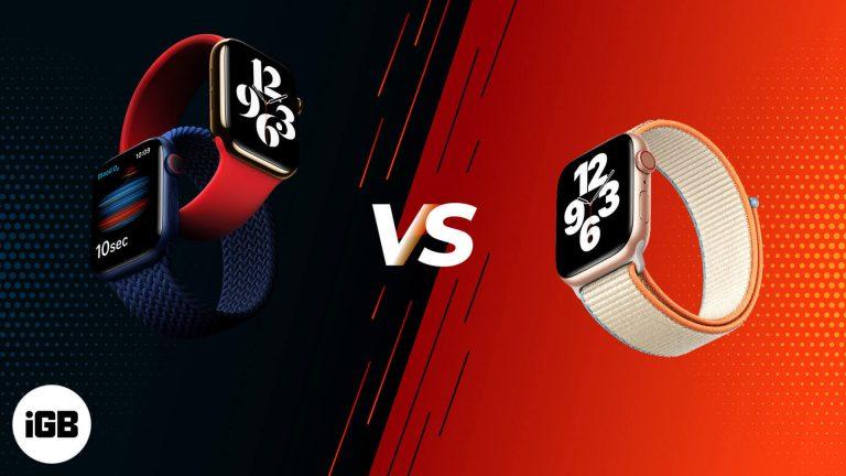 Apple Watch SE против Apple Watch Series 6: отсутствующие и общие функции