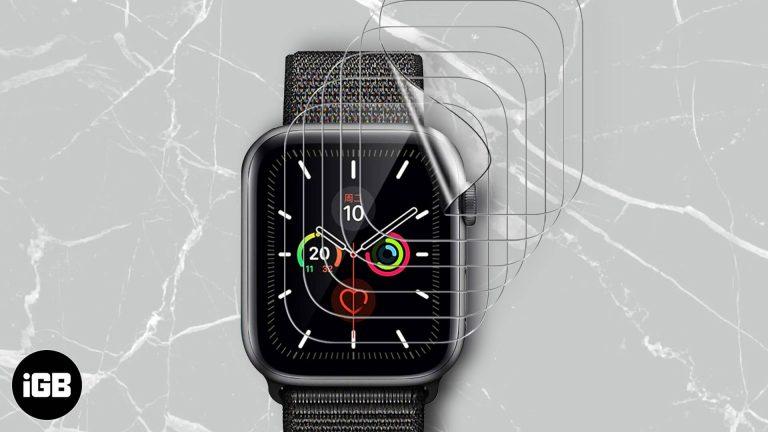 Лучшие защитные пленки для Apple Watch Series 6 и 5 в 2020 году