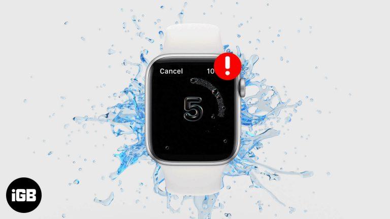 Мытье рук не работает на Apple Watch?  Вот как это исправить