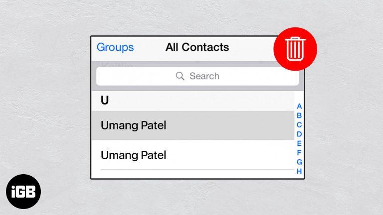 Как удалить повторяющиеся контакты на iPhone и Mac
