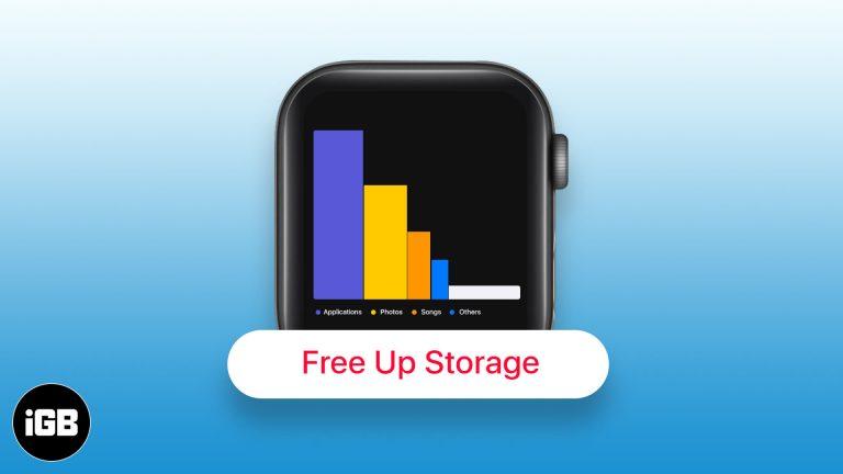 Как освободить место на Apple Watch: полное руководство