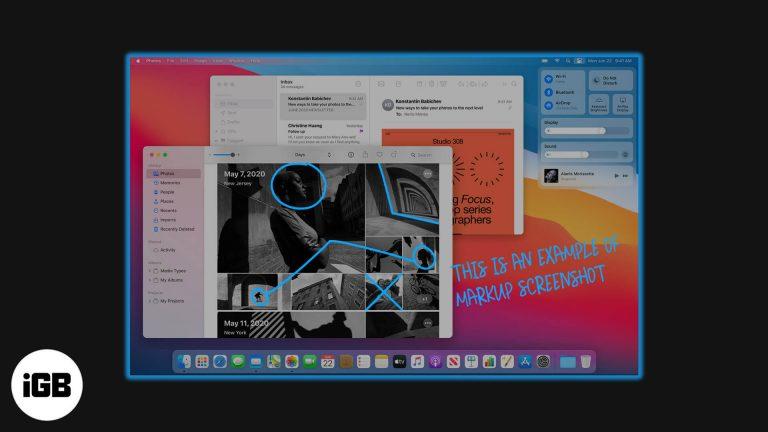 Как использовать разметку для редактирования снимков экрана на Mac