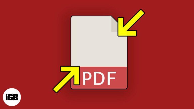 3 простых способа уменьшить размер файла PDF на Mac