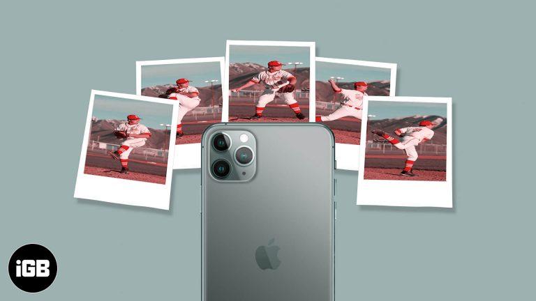 Как делать серийные фотографии на iPhone 11 и 11 Pro