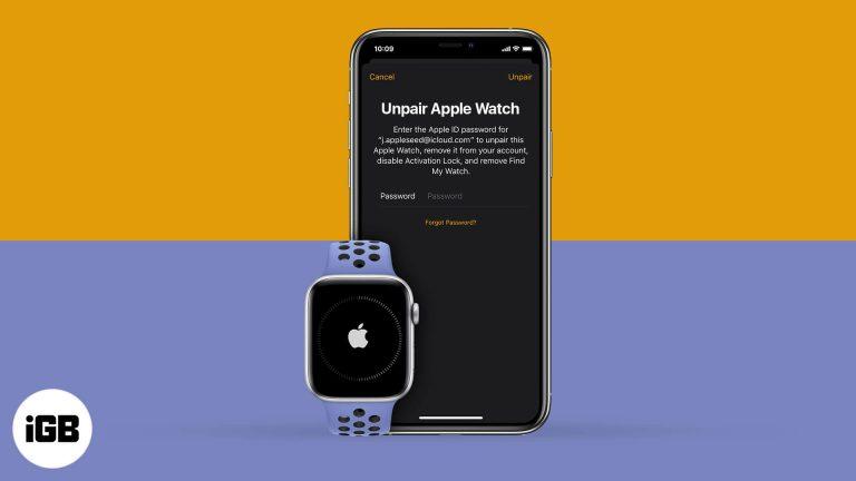 Как разорвать пару Apple Watch с iPhone или без него