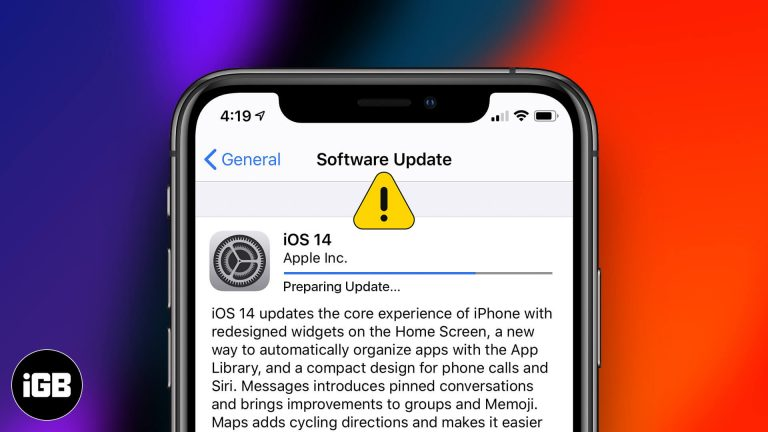 IOS 14 зависает при запросе обновления на iPhone?  Как это исправить