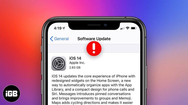 Не удается установить обновление iOS 14 на iPhone? Советы по устранению проблемы