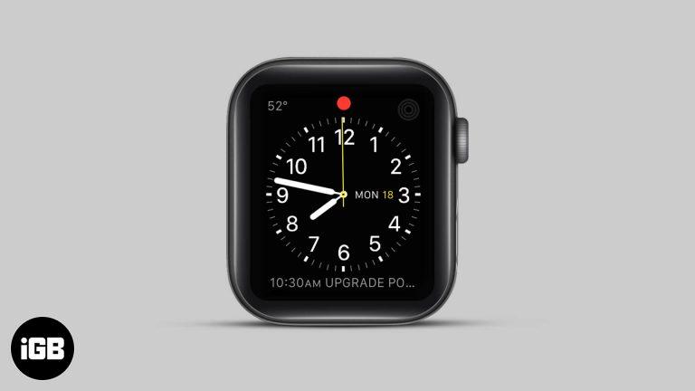 Что означает красная точка на Apple Watch и как от нее избавиться?