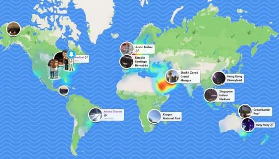 Как увидеть и использовать карты Snapchat
