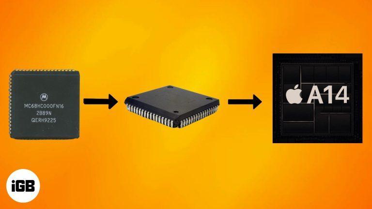 Краткая история процессоров Mac: от Motorola 68 K до ARM