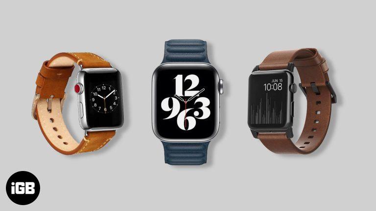 Лучшие кожаные ремешки для Apple Watch Series 6, SE, 5, 4 и 3 в 2020 году