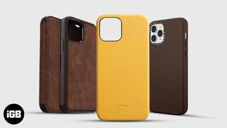 Лучшие кожаные чехлы для iPhone 12 и 12 Pro в 2020 году