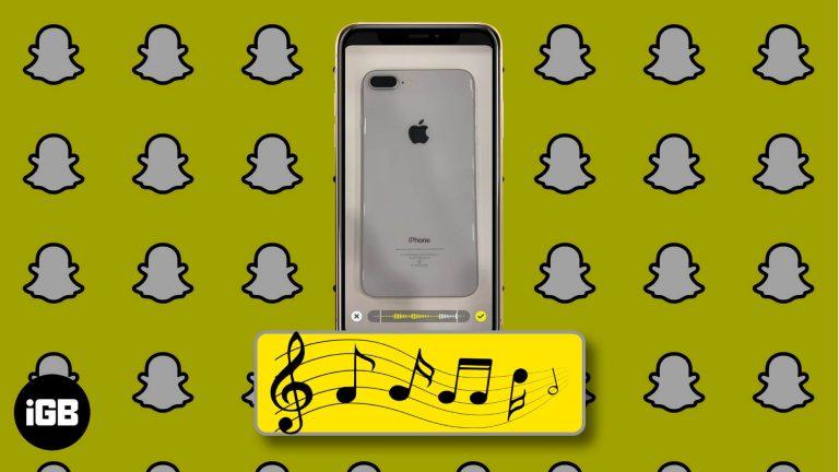 Как добавить музыку в истории Snapchat на iPhone